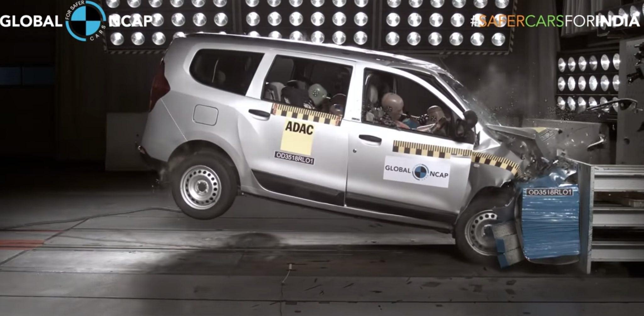 141c22d9e53 Indická Dacia Lodgy nedostala v crash testoch ani jednu hviezdičku ...
