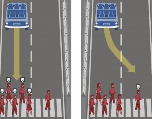 Autonómne autá: Mali by obetovať posádku alebo chodcov?