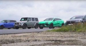 Štyri extrémne SUV sa proti sebe postavili na šprint. Viete si tipnúť víťaza?