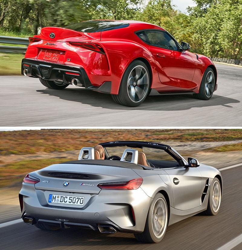 2019 Toyota Supra And Bmw Z4: Toyota Supra Vs. BMW Z4, V čom Sú Dvojičky Rozdielne?